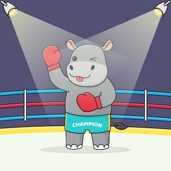 Boxer lindo hipopótamo