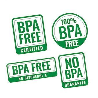 Bpa libre de bisfenol-a y ftalatos etiquetas de sello de placa