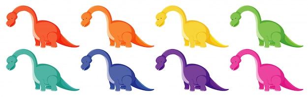 Brachiosaurus en diferentes colores.