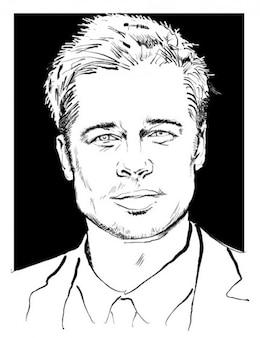 Brad pitt retrato