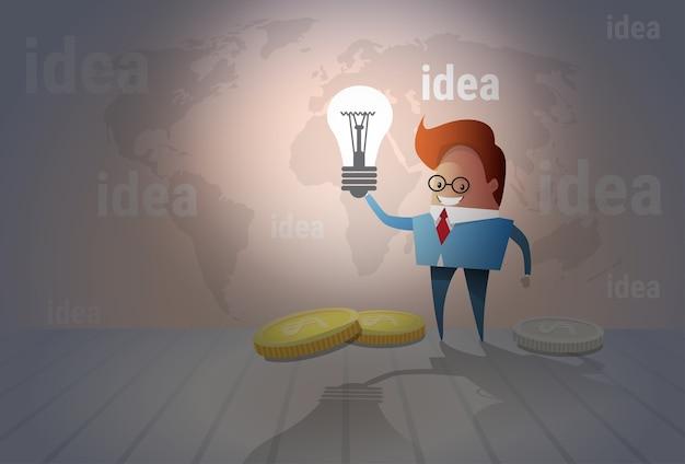 Brainstorm creativo de la idea del concepto de la nueva idea del hombre de negocios
