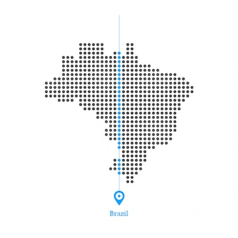 Brasil adorado vector de diseño de mapa