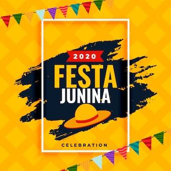 Brasil festa junina 2020 celebración diseño de decoración de fondo