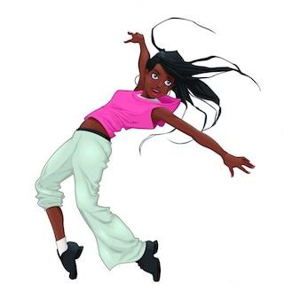 Breakdance divertido del vector del carácter aislado