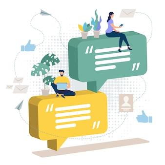 Bright banner feedback sobre productos y servicios.