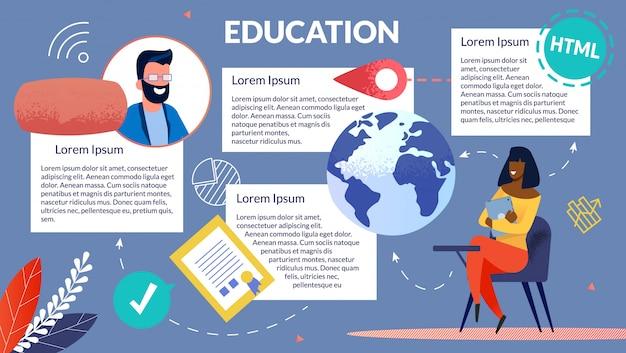 Bright flyer girl recibiendo educación internacional