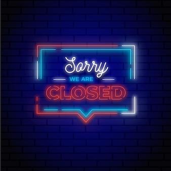 Brillante cartel de 'lo siento, estamos cerrados'