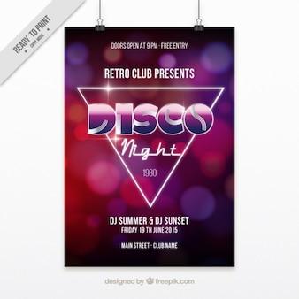 Brillante cartel para una noche disco
