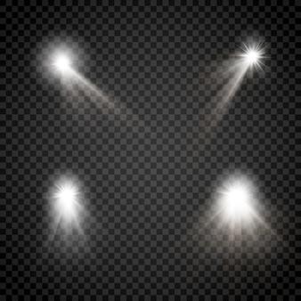 Brillante conjunto de rayos de estrellas