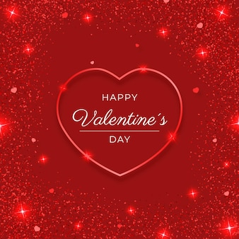 Brillante corazon de san valentin
