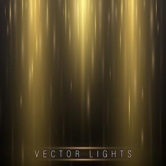 Brillante efecto de luz mágica y largos senderos de movimiento de fuego.
