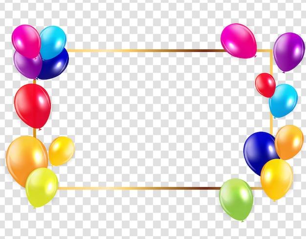 Brillante feliz cumpleaños globos fondo vector ilustración