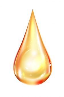 Brillante gota de aceite realista