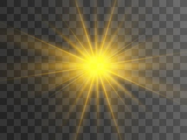 Brillante hermosa estrella. ilustración de un efecto de luz
