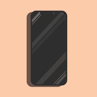Brillante iphone x teléfono inteligente maqueta vector realista