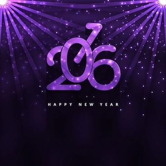 Brillante tarjeta de año nuevo 2016