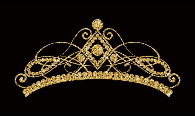Brillante tiara dorada