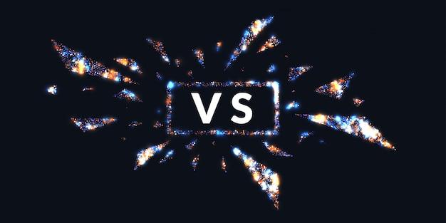 Brillantes carteles de confrontación vs. ilustración.