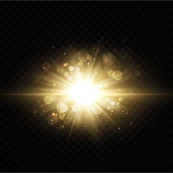 Brillantes estrellas doradas sobre fondo negro.