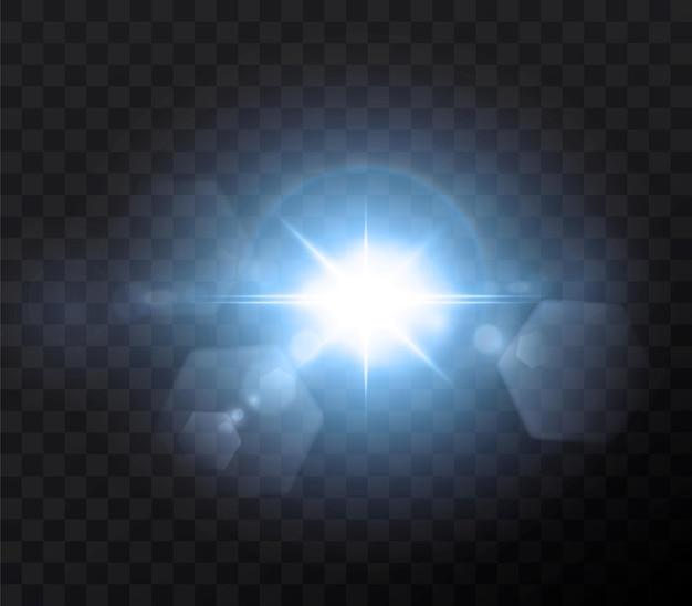 Brillantes estrellas de neón aisladas sobre fondo negro