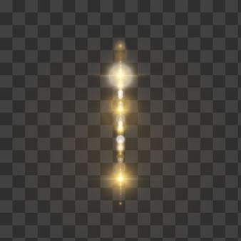 Brillantes luces borrosas aisladas