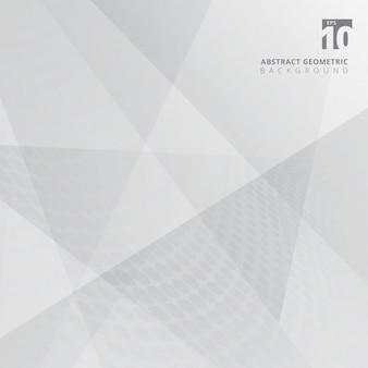 Brillo de geometría de fondo abstracto gris y blanco