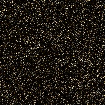 Brillo dorado chispa burbujas champán partículas estrellas en blac