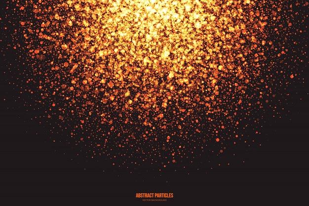 Brillo dorado partículas brillantes explosión fondo abstracto