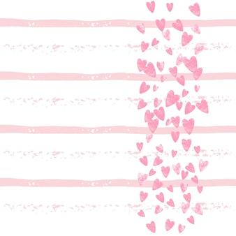 Brillo nupcial. ilustración rosa del libro de recuerdos. pintura dibujada a mano. marco de dispersión