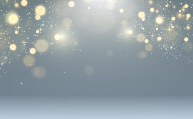 Brillo de vector de polvo de oro brillante adornos brillantes brillantes para la ilustración de vector de fondo