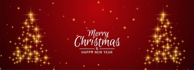 Brillos árbol de navidad feliz navidad banner decorativo
