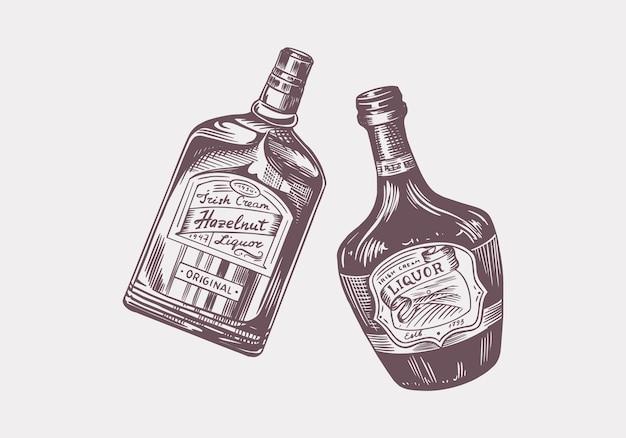 Brindis de salud. insignia de licor vintage