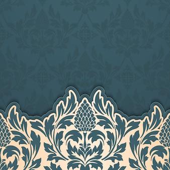 Brocado decorativo arabesco