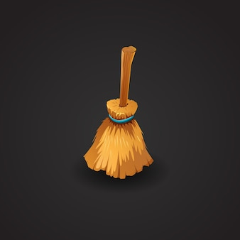 Broom ilustración vectorial