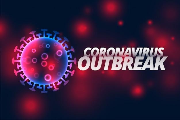 Brote de infección por coronavirus diseño de enfermedad pandémica