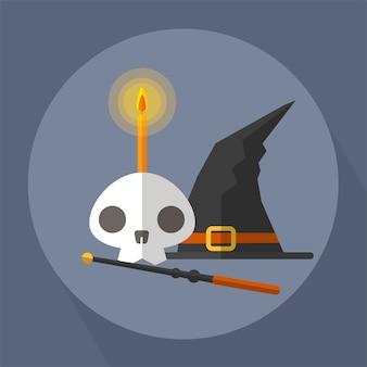 La bruja del cráneo y la varita mágica