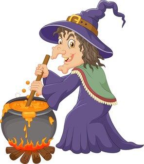 La bruja fea está revolviendo la poción