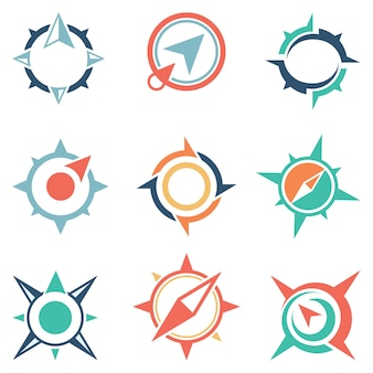 Brújula global abstracto símbolo icono