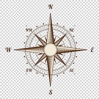 Brújula de vector de estilo antiguo