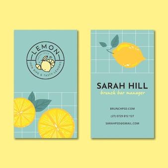 Brunch tarjeta de visita vertical de doble cara