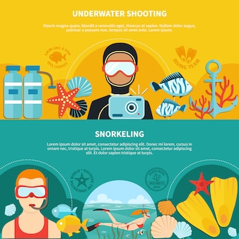Buceo banners horizontales