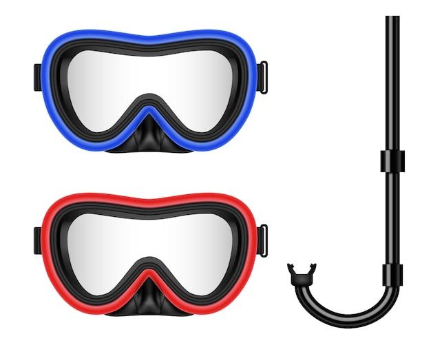 Buceo, máscara de natación con snorkel.