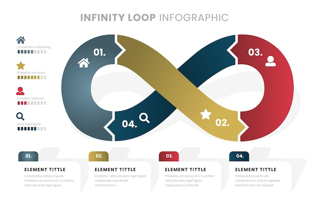Bucle infinito de plantilla de infografía