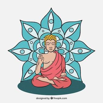 Buda tradicional dibujado a mano