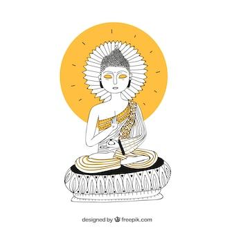 Budha tradicional dibujado a mano