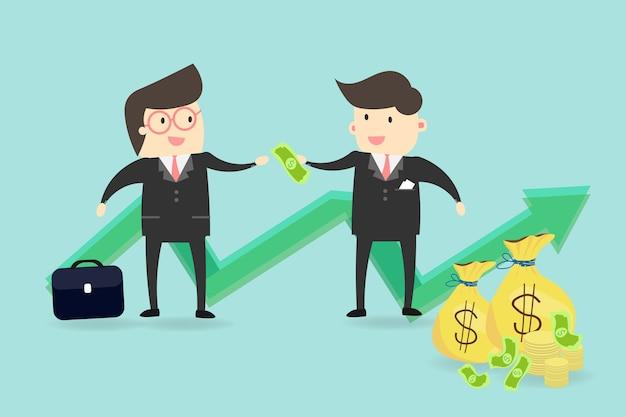 Buen empresario inversión de las finanzas
