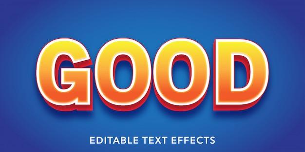 Buen texto efecto de texto editable de estilo 3d