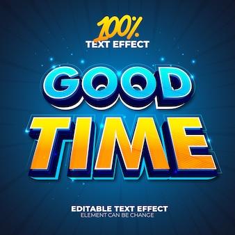 Buen tiempo efecto de texto