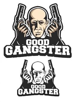 Buena mascota logotipo de gángster
