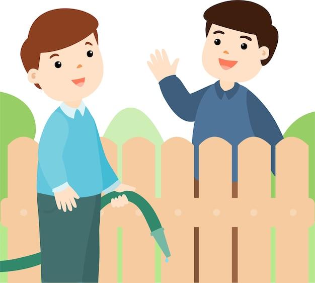 Buena relación de vecino